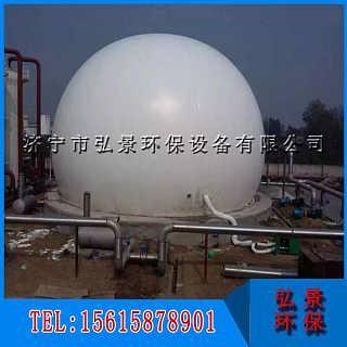 双膜气柜--沼气工程配套设备厂家、占地面积