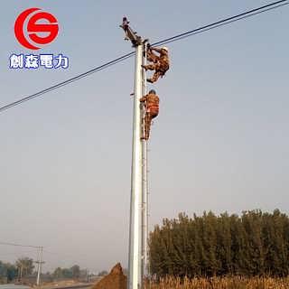 高压架线电力钢杆定制 钢杆基础打桩施工 耐张钢管杆价格 单管塔