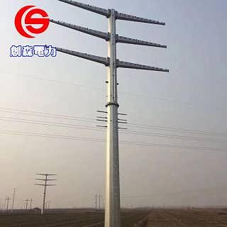 直线电力钢杆 圆管杆 电力输电钢杆 电力架线钢杆厂家