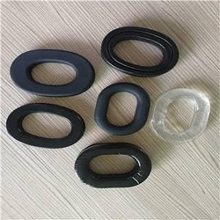 厂家直销头戴耳机套 吸塑成型PVC皮耳套异形海绵耳罩-东莞市辉晟海绵制品有限公司.