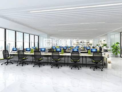 郑州办公室装修公司,农产品交易中心办公室装修案例-郑州京创装饰设计
