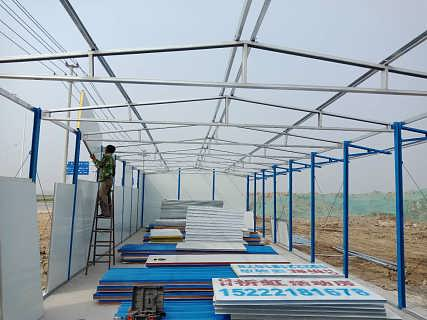阳泉沙坪工程用房 贵石沟彩钢房-天津祈虹彩钢钢构有限公司.