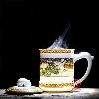 生产定制陶瓷礼品茶杯厂家-江西省景德镇市合元陶瓷有限公司
