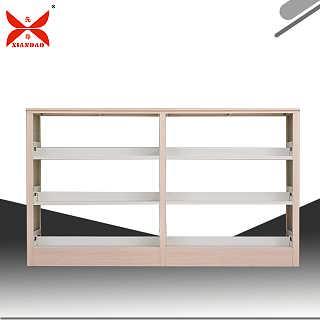 钢制图书架实木护板书架专业加工定制