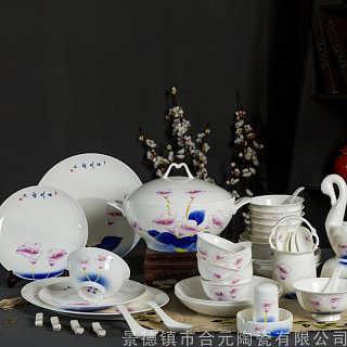 公司送员工福利礼品  礼品陶瓷餐具加字定做-景德镇市合�鎏沾捎邢薰�司
