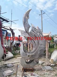 凤凰雕塑 广场不锈钢雕塑-新乐市润鑫雕塑艺术品销售中心
