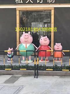 柳州小猪佩奇雕塑 猪小妹卡通动物系列雕塑