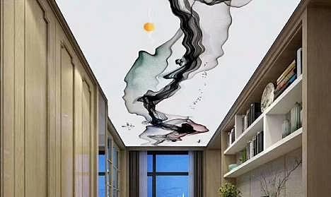 中式水墨软膜天花吊顶