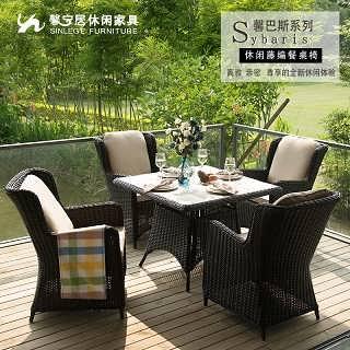 深圳露台休闲桌椅餐厅外摆桌椅藤编桌椅