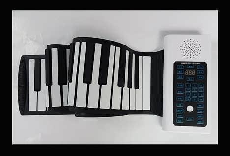 供应博锐教学版折叠式B88电子钢琴-东莞市宝睿硅胶制品有限公司销售部门部