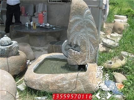 石雕厂家直销石雕流水精美雕刻摆件-福建省蜀帝石雕工艺有限公司