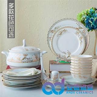 中高档陶瓷餐具套装厂家定制批发