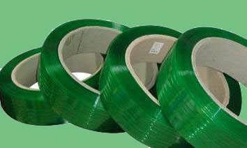 南通PET手工塑钢打包带1608/1910绿色20kg包装带配件塑钢捆扎绳-南通鑫柏包装用品有限公司