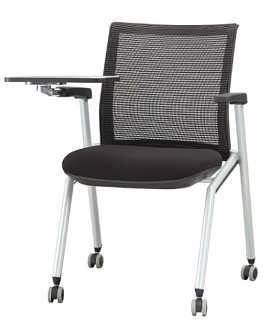 高档带写字板品牌网布培训椅-东莞市格友家具有限公司