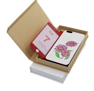 大量现货供应手机壳包装盒中性款白色牛皮纸手机壳包装盒 包装盒定做