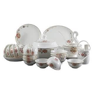 景德镇新婚礼品陶瓷餐具结婚礼品送餐具-唐龙陶瓷有限公司