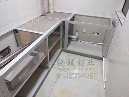 铝合金陶瓷橱柜型材 全铝博古架玄关柜来图定制 全铝家具厂家直销-佛山市锐镁铝业有限公司