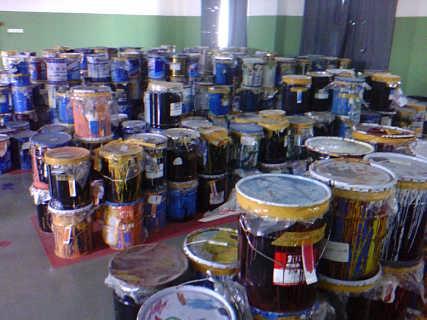 秦皇岛哪里回收过期油漆24小时上门看货-河北吉祥油漆回收公司