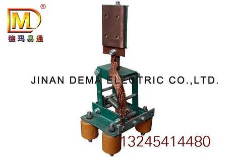 侧压式滑触线集电器 平行式刚体滑触线受电器 滑导线集电器-山东济南德玛电气有限公司