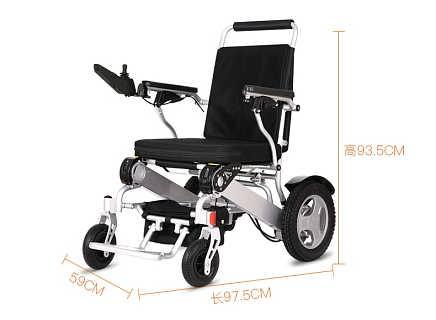 金百合D09 轻便折叠电动轮椅,锂电池长续航