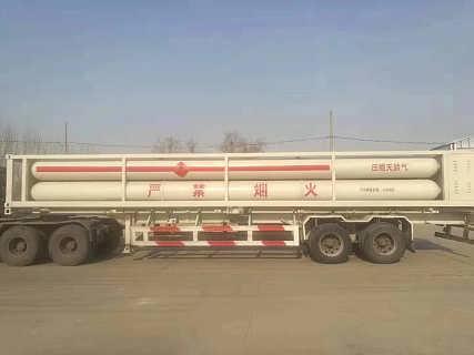 9管CNG天然气运输车 9管压缩气体长管车 cng槽车价格