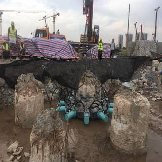 圆形破桩机 方形截桩机 挖掘机破桩设备配件-济宁市�M磊商贸有限公司