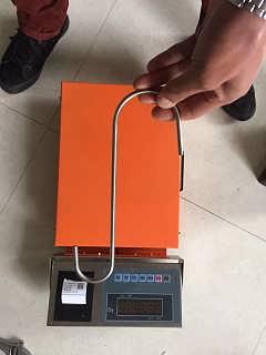 昆山医疗废物回收分类120kg电子秤联网上传查询数据