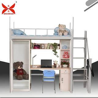 学生公寓床尺寸定制钢制双层组合床-洛阳市先?#21450;?#20844;家具有限公司网络部