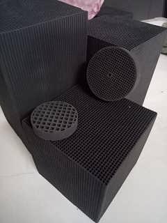 东莞卖酸雾废气吸附蜂窝柱状活性炭小孔径高碘值蜂窝块状活性炭厂家经销商