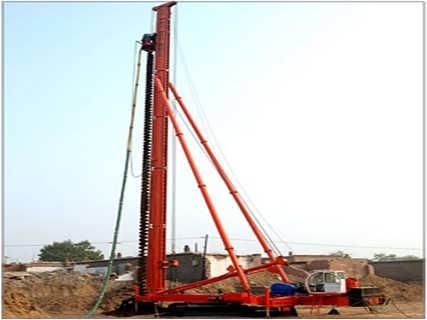 液压步履式CFG打桩机 长螺旋打桩机-山东恒旺集团有限公司-钻机