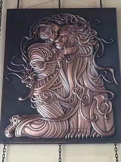 锻铜紫铜浮雕 四季景观浮雕雕塑公司-上海树脂雕塑 上海塑景雕塑艺术有限公司