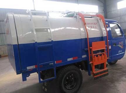 柴油三轮挂桶垃圾车 农用三轮挂桶式垃圾车