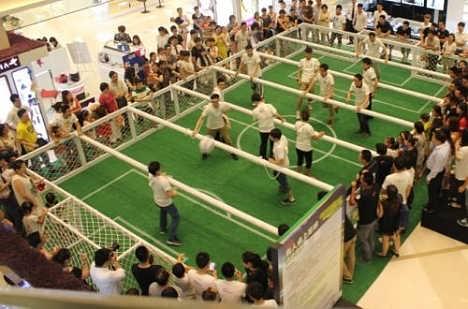 山东三喜文教的脚踢式台球真人桌上足球带给你想不到的惊喜