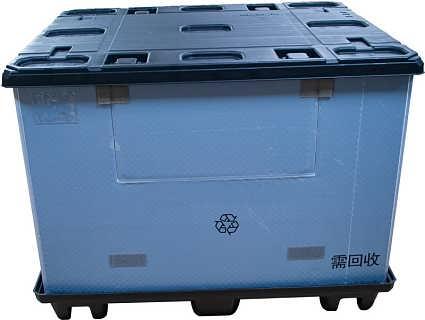 蜂窝板围板箱 双层吸塑九脚围板箱 塑料围板箱厂家三兄