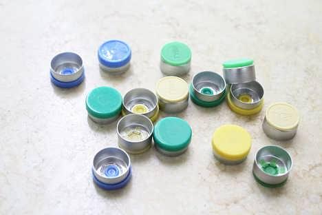 口服液瓶用易刺铝盖 医用铝塑组合盖生产厂家上海久正