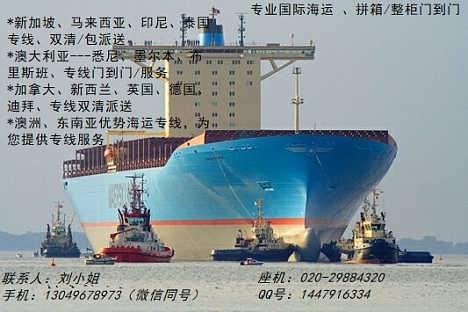 广州到澳大利亚海运专线双清门到门专线专业快速