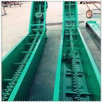 玉米用刮板输送机 水平铸石板刮板机