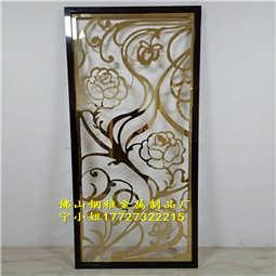铝艺黄铜雕刻屏风 镜面K金屏风好屏风厂家
