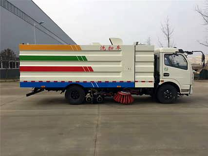 程力威清洁洗扫车东风多利卡CLW5110TXSD5洗扫车简介