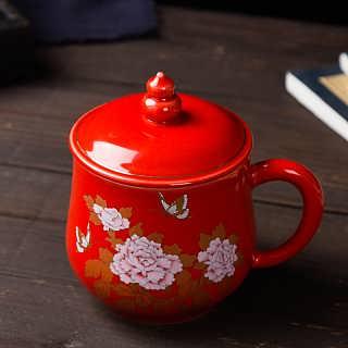 定做广告会议茶杯印字加图案