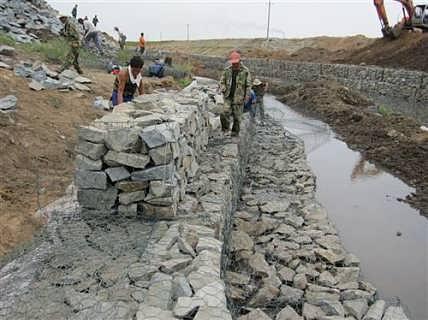 水利固堤防御8*10固滨网&防汛pvc石笼网