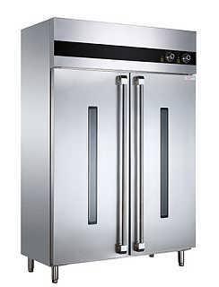 双门不锈钢光波消毒柜(工程款)-西安巨尚厨房设备有限公司