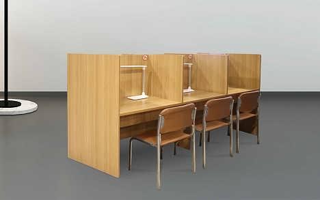 长春板式书桌卡位定制尺寸设计