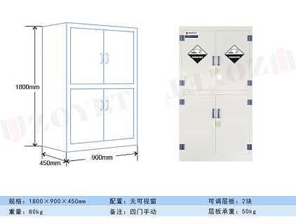PP药品柜/试剂柜ZYPM1800-3-上海众御实业有限公司
