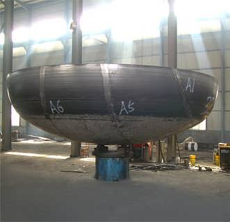 A234WPB碳钢椭圆封头-325*10国标管帽厂家生产