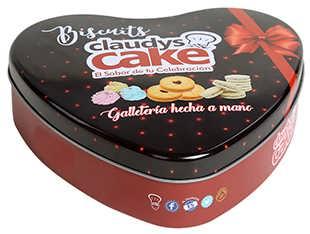 厂家定制批发爱心形饼干包装铁盒,圣诞节送礼马口铁糖果盒