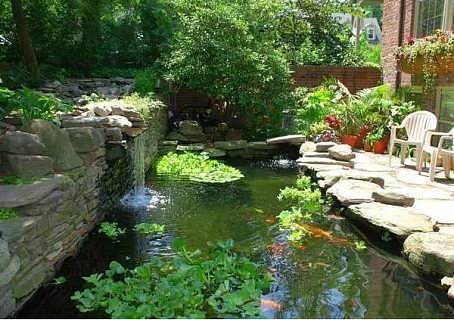 济南鱼池的过滤池济南小庭院锦鲤鱼池济南鱼池过滤系统