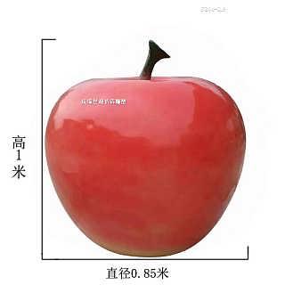 仿真苹果造型雕塑 校园不锈钢水果雕塑