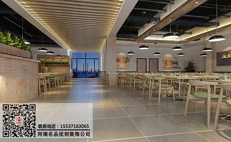 河南美食广场装修施工团队,郑州美食广场装修设计要有特色