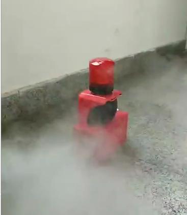青岛凌鼎提供消防演习专用声光报警烟雾器